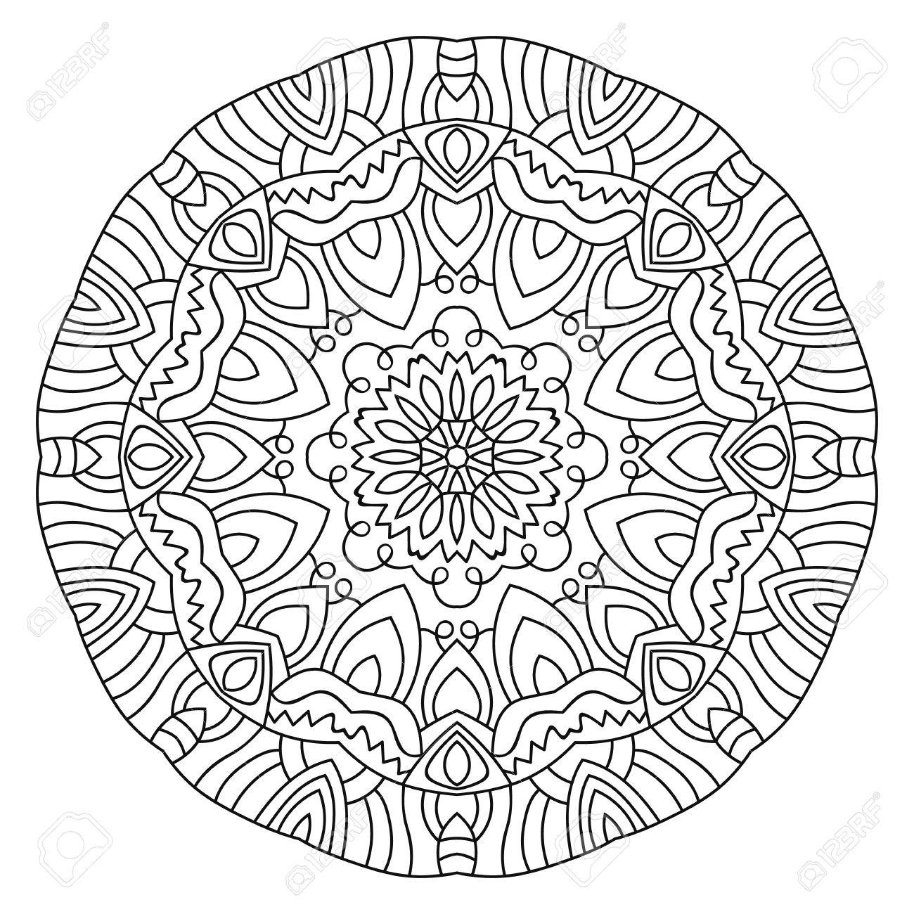 1300x1300 Successful Circle Pattern Coloring Pages Symme