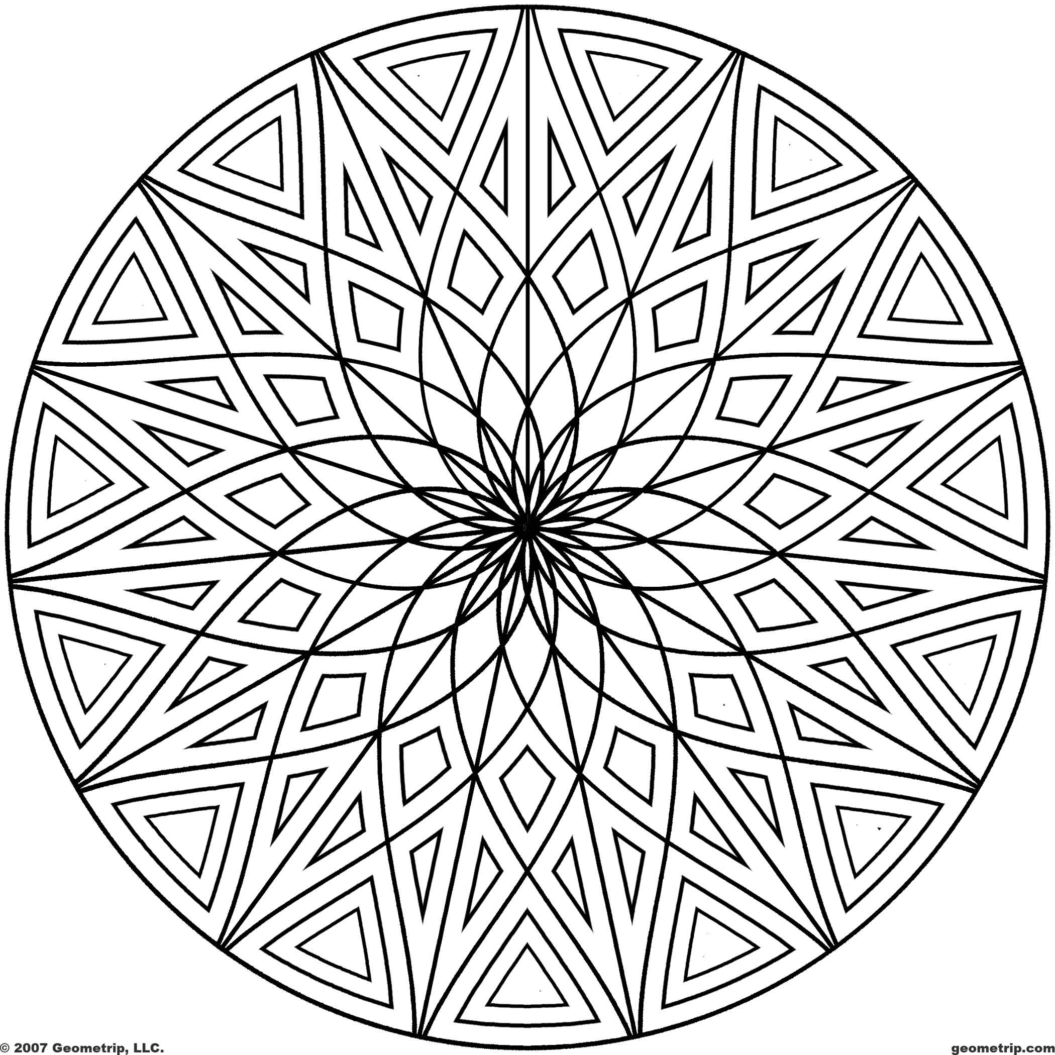 2100x2100 Big Circle Pattern Coloring Pages Page For Pre