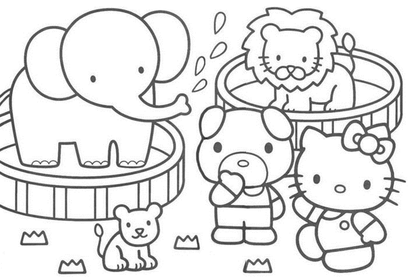 1400x952 Circus Coloring Pages To Download And Printable Free Kids Clown