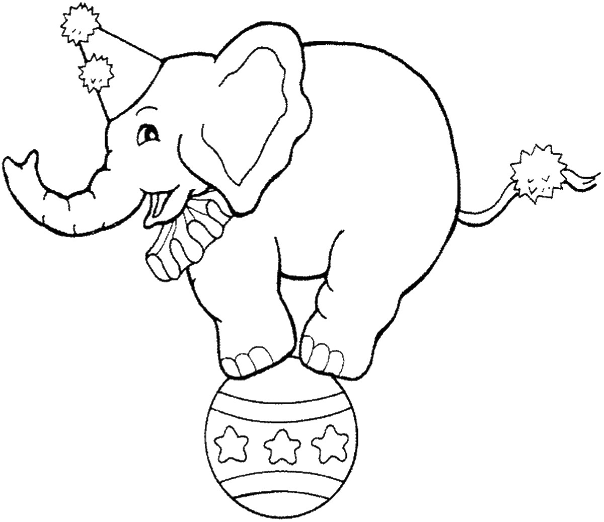 1200x1037 Circus Coloring Pages