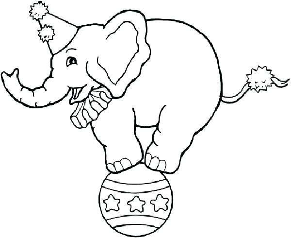 600x490 Circus Coloring Sheets Coloring Clown Circus Train Coloring Pages