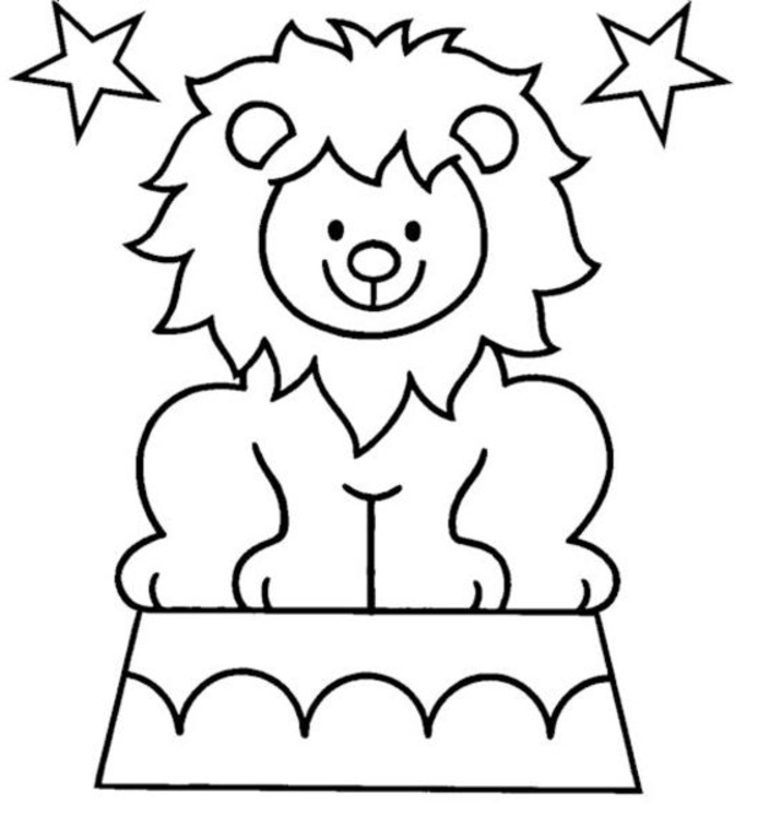 694x758 Circus Lion Coloring Pages