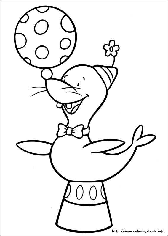 567x794 Circus Coloring Picture