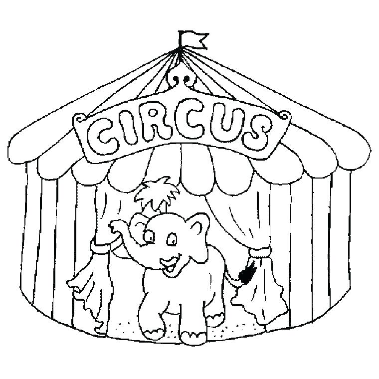 760x760 Clown Coloring Pages Circus Elephants Circus Elephants Coloring
