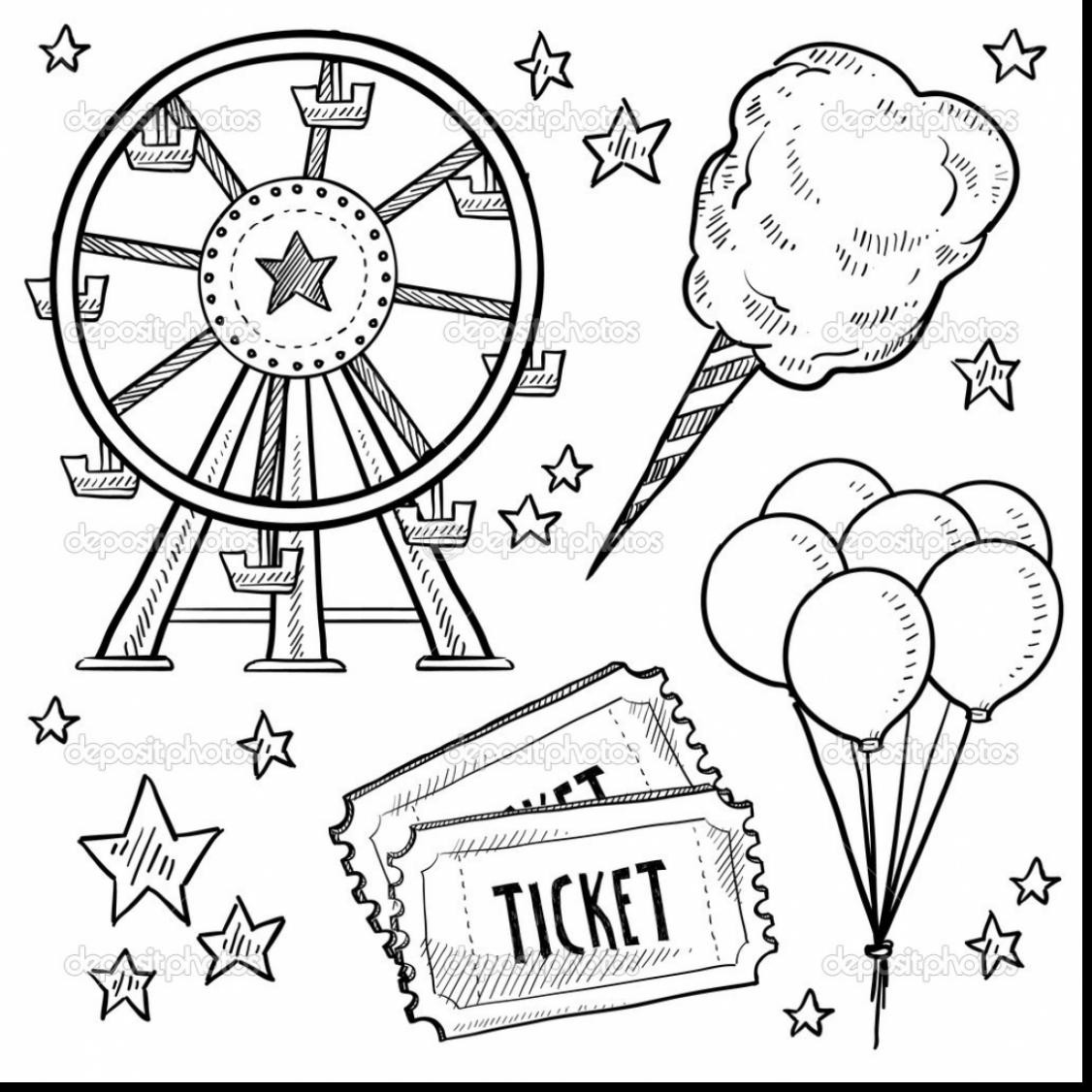 1126x1126 Expert Circus Coloring Pages Outstanding Carnival Tickets