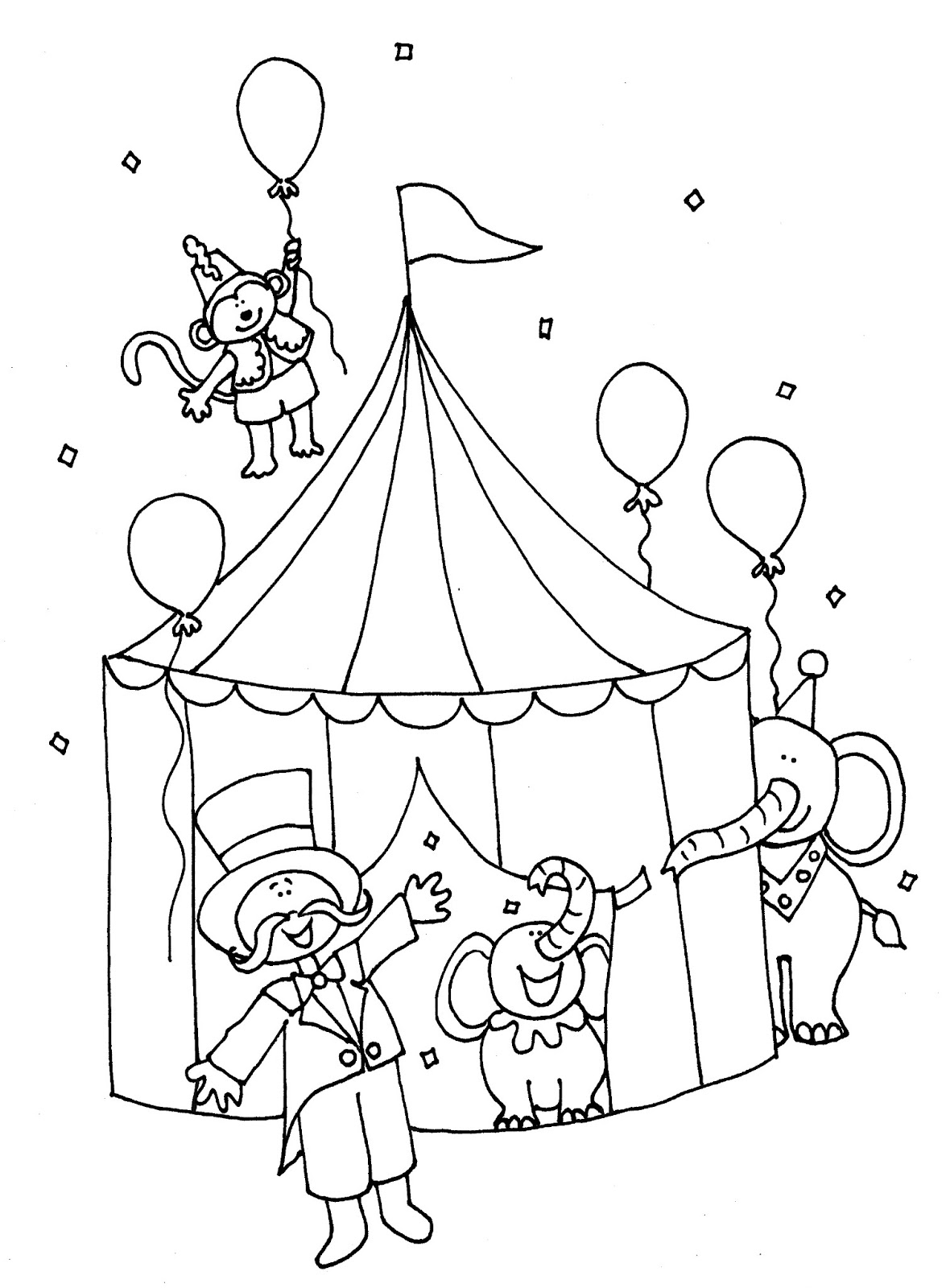 1175x1600 Free Printable Circus Tent Coloring Pages