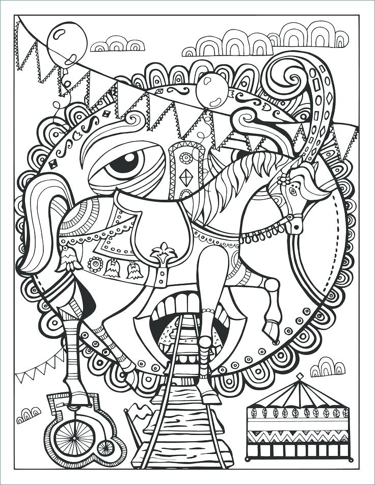 736x952 Hello Kitty On Circus Coloring Pages Carnival Coloring Page Lovely