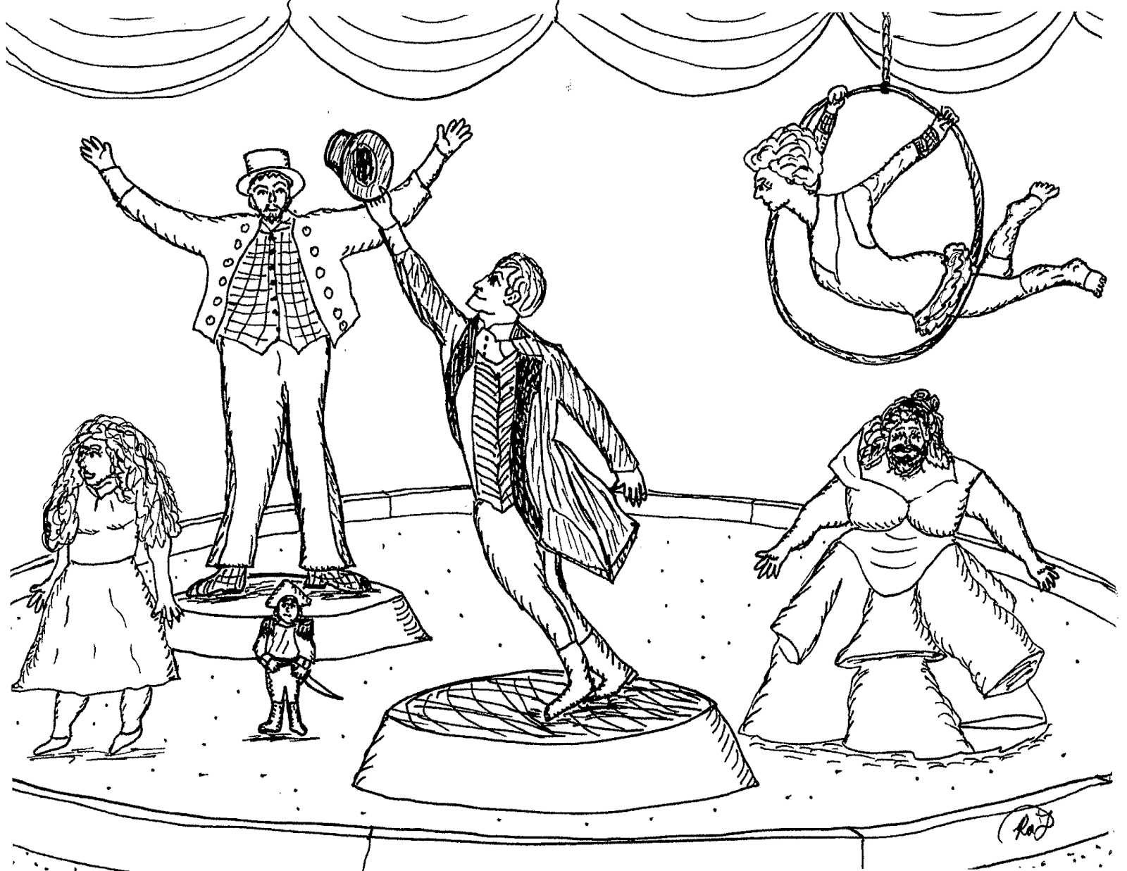 1600x1237 Robin's Great Coloring Pages The Greatest Showman Circus Coloring