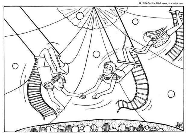 620x450 Trapeze Artists Coloring Page Clowns Artist