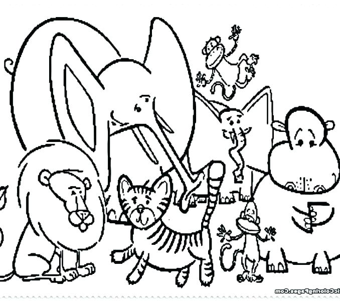 Circus Coloring Pages For Preschool