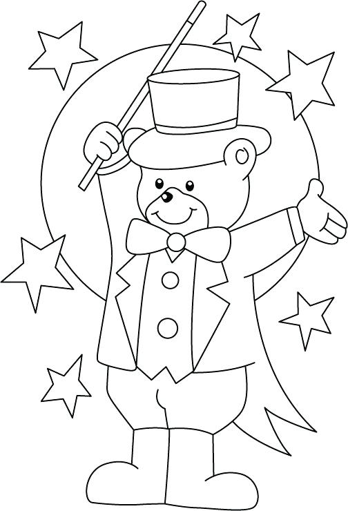 504x740 Clown Coloring Page Circus Coloring Pages For Preschool Circus