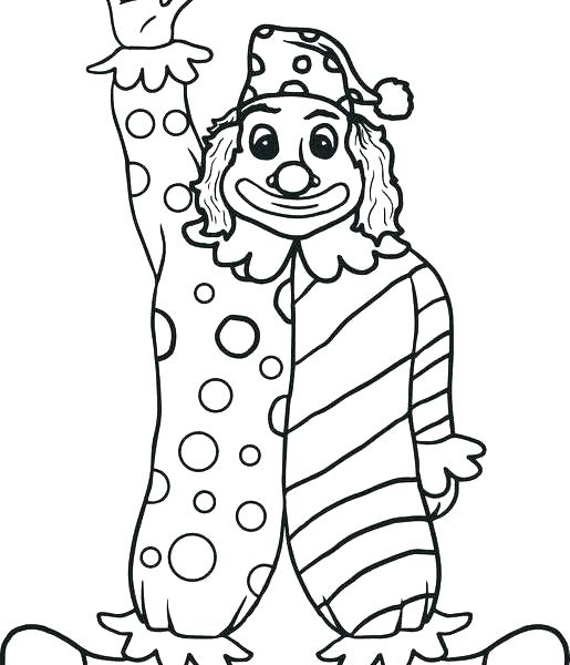 515x600 Clown Coloring Page Clown Coloring Pages Circus Coloring Pages
