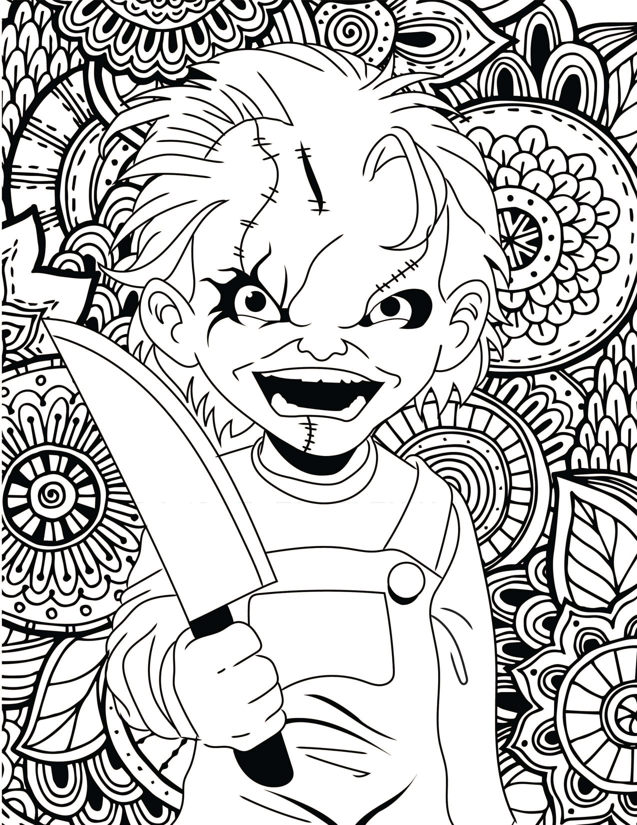 2550x3300 Clown Coloring Pages Preschool Scary Colouring Sheets Printable