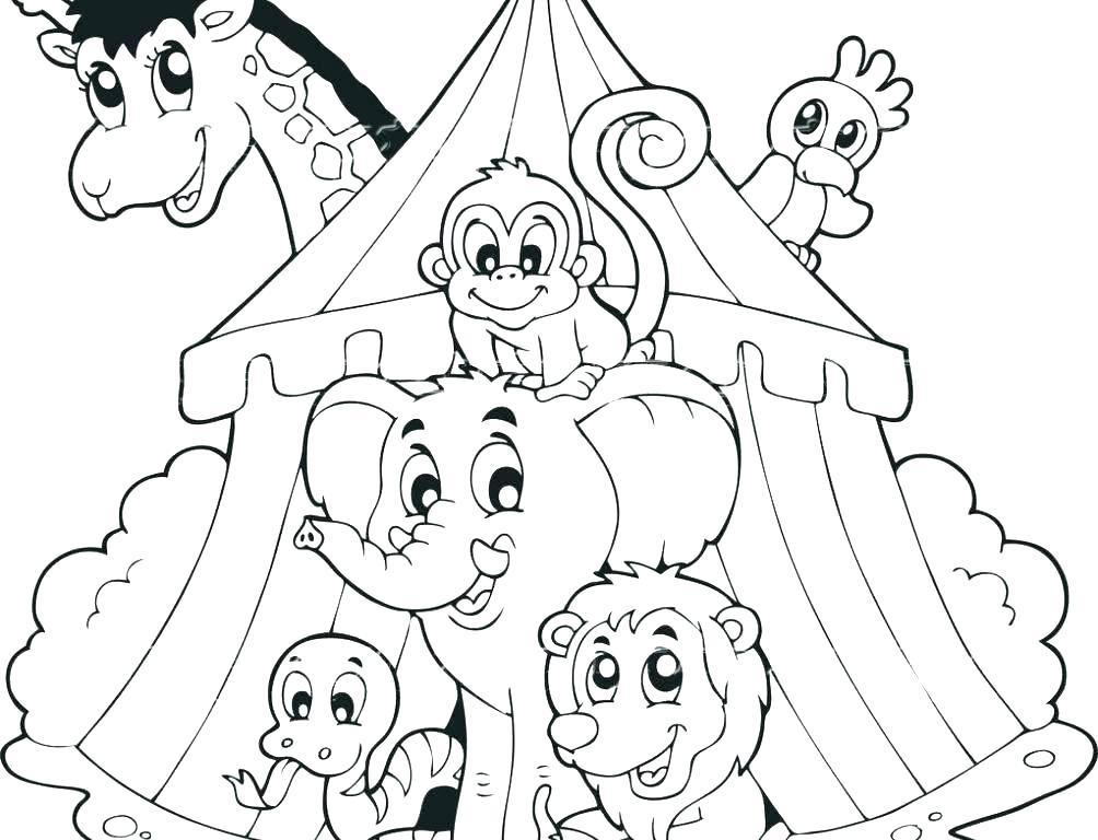 1004x768 Circus Coloring Sheets