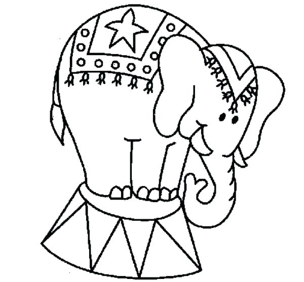 600x558 Circus Coloring Pages Click To View Full Size Image Circus Clown
