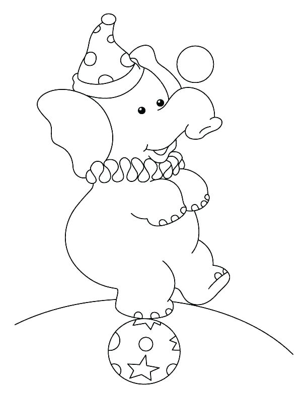 612x792 Circus Elephant Coloring Page Cartoon Elephant Coloring Pages Cute