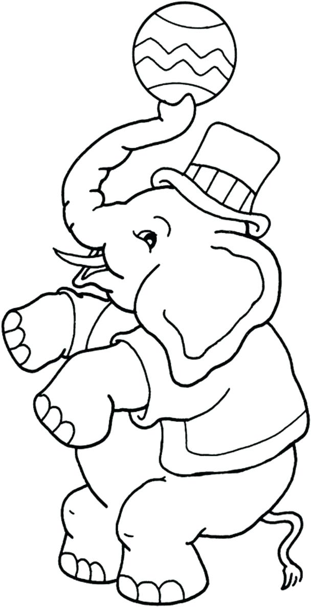 608x1184 Circus Elephant Coloring Pages Theme Carnival And Birthdays