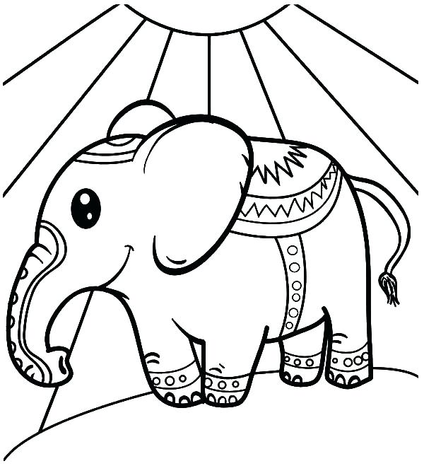 600x659 Baby Elephant Coloring Book Printable Coloring Watching Circus