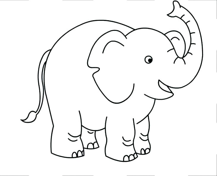 730x593 Coloring Page Of An Elephant Coloring Page Elephant Coloring Page