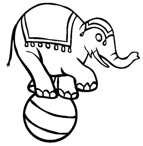 600x612 Coloring Pages Elephant Circus Elephant Coloring Pages For Kids