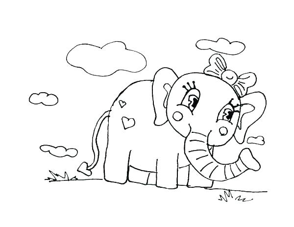 600x463 Elephant Coloring Pages Drawing Circus Elephant Coloring Pages
