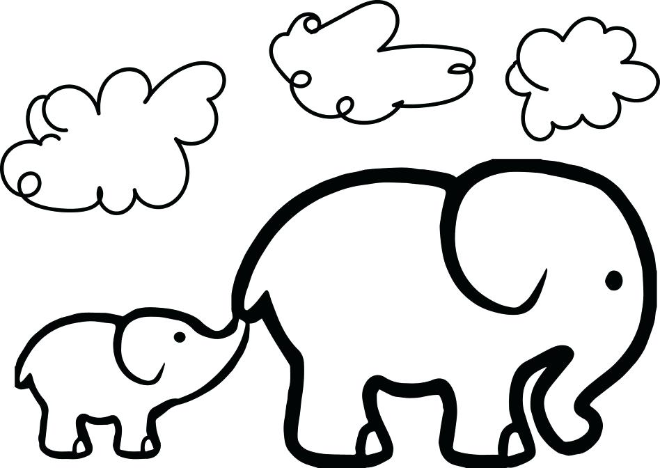 948x672 Mother And Baby Elephant Coloring Pages Coloring Pages D Elephant