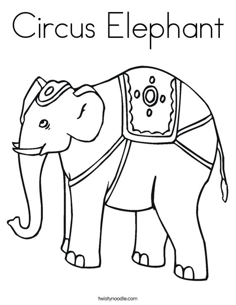 468x605 Circus Elephant Coloring Page