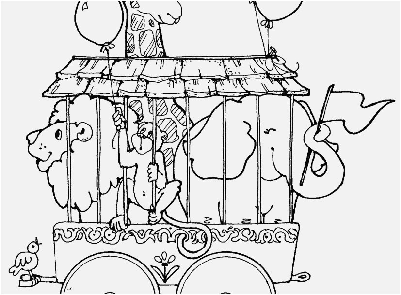 827x609 Coloring Pages Trains Shoot Circus Train With Giraffe Lion
