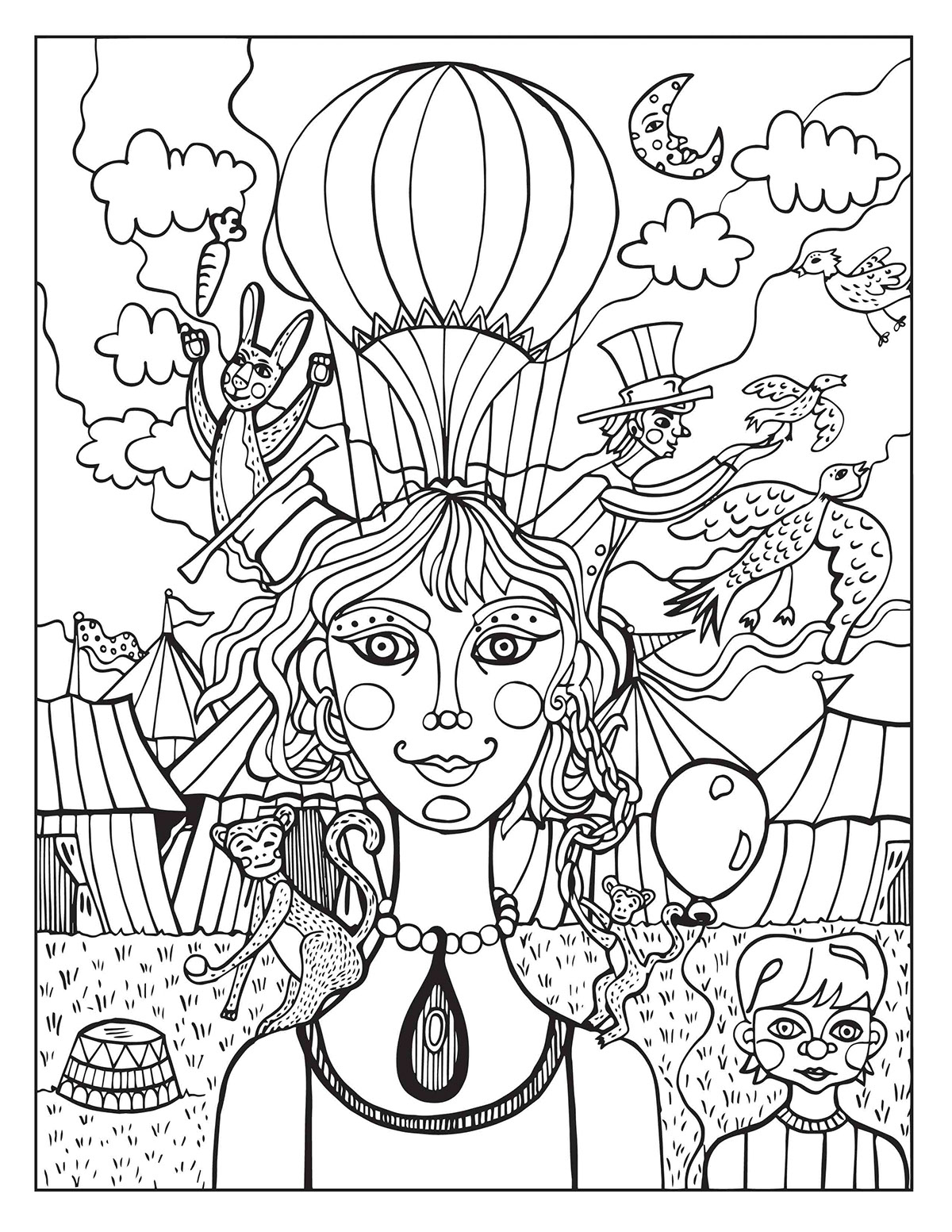 1200x1553 Free Printable Circus Coloring Pages For Toddler To Print