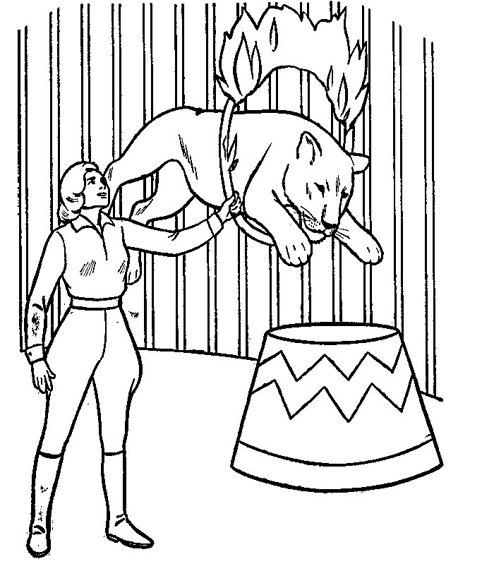 700x826 Picture Miscellaneous Coloring Sheets Circus And Clowns Colouring