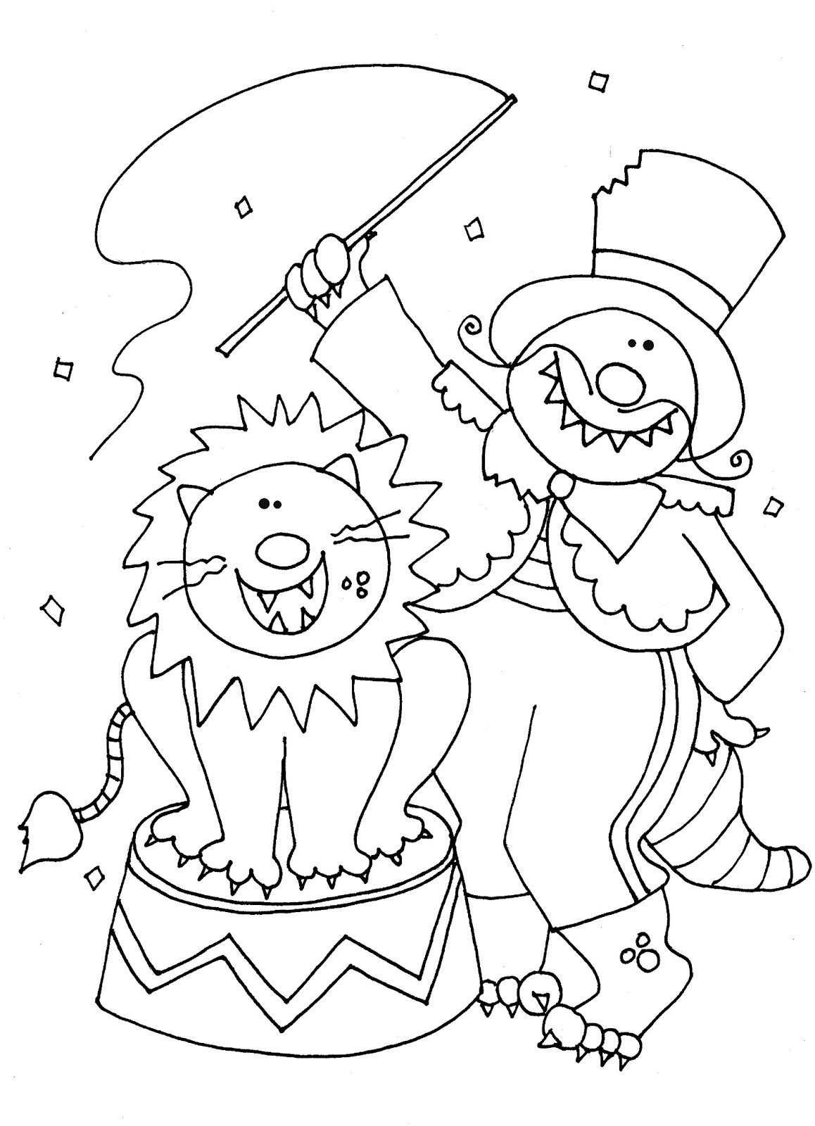 1158x1600 Surprising Circus Lion Coloring Page With Pages And For Preschool