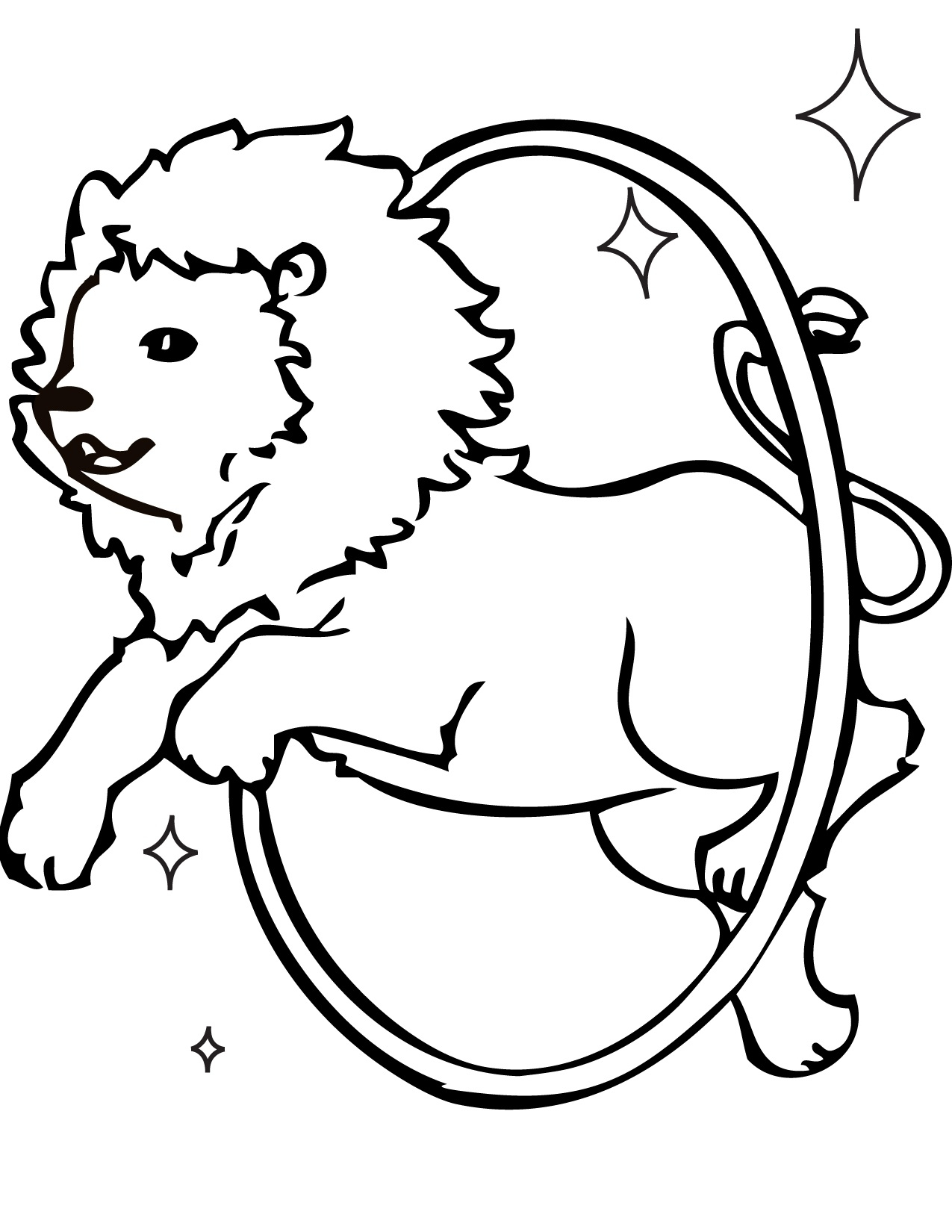 1275x1650 Circus Animal Coloring Pages Circus Lion Coloring Pages For Kids