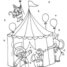 268x268 Circus Animal Coloring Pages Printable Performing Circus Lion