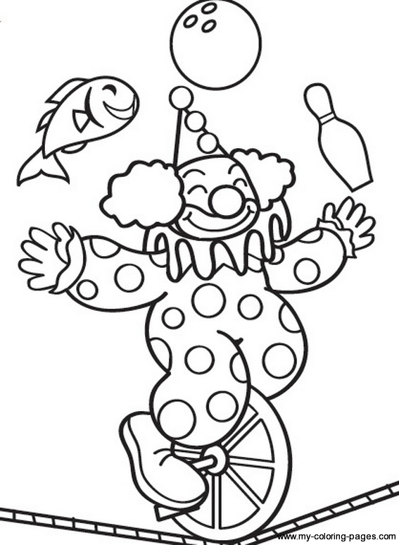 567x773 Circus Coloring Pages