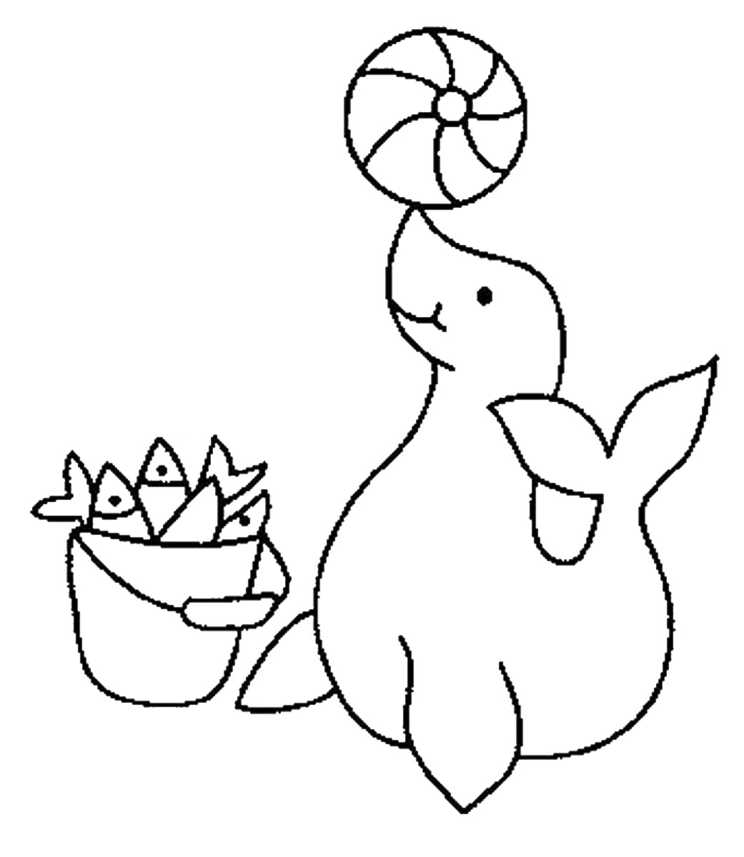1041x1200 Seal Coloring Pages