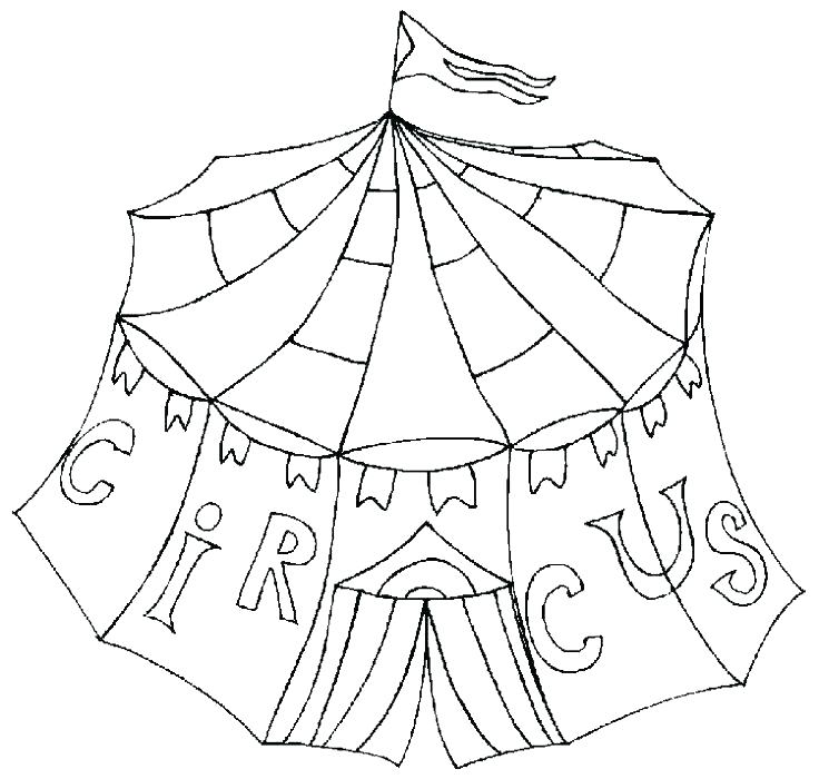 736x700 Circus Coloring Pages Printable Circus Tent Coloring Pages