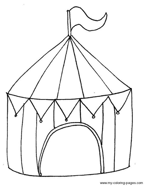 567x734 Circus Tent Coloring Page Circus Tents, Circus