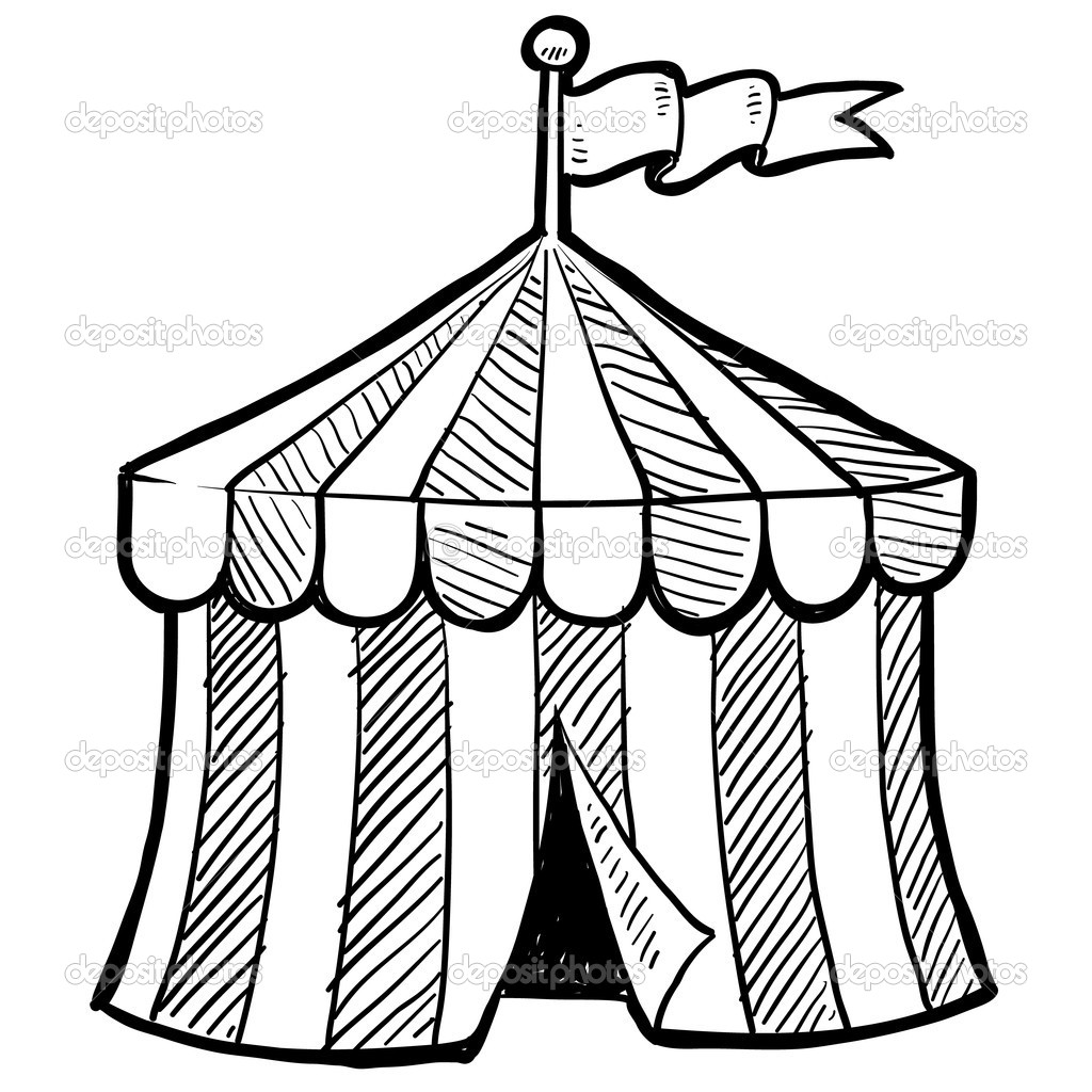 1024x1024 Circus Tent Coloring Pages Printable
