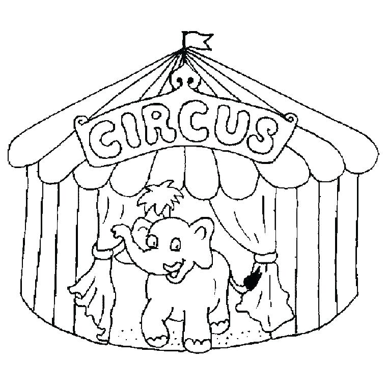 760x760 Circus Tent Coloring Pages Printable Clown Cute For Kids Free