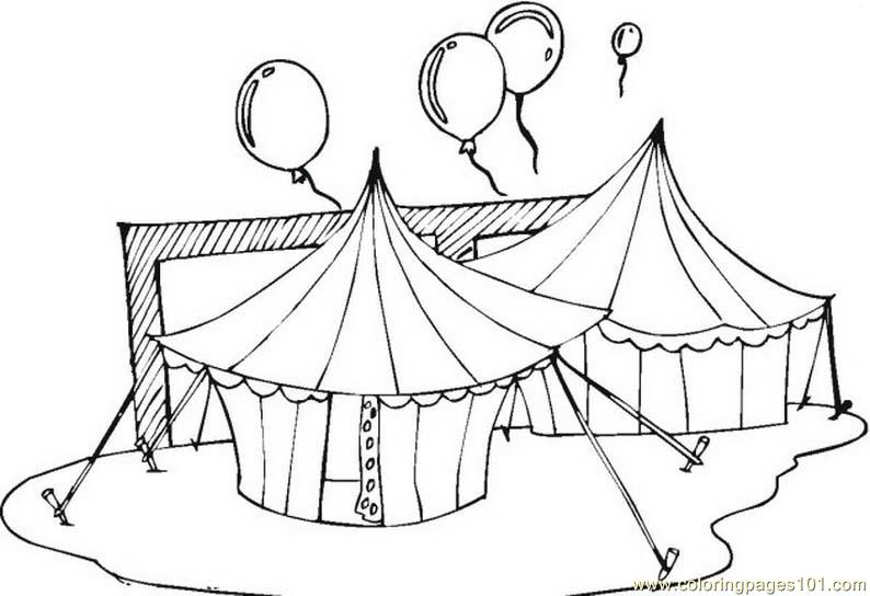 794x544 Circus Tents Coloring Page