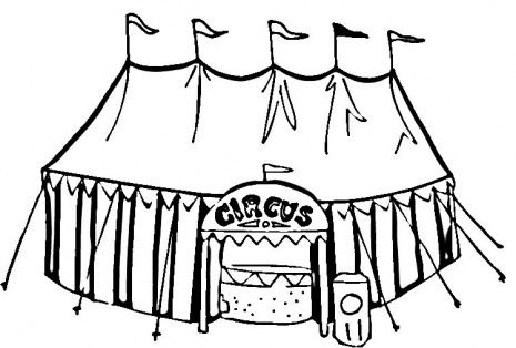 465x314 Circus Tent Coloring Page School