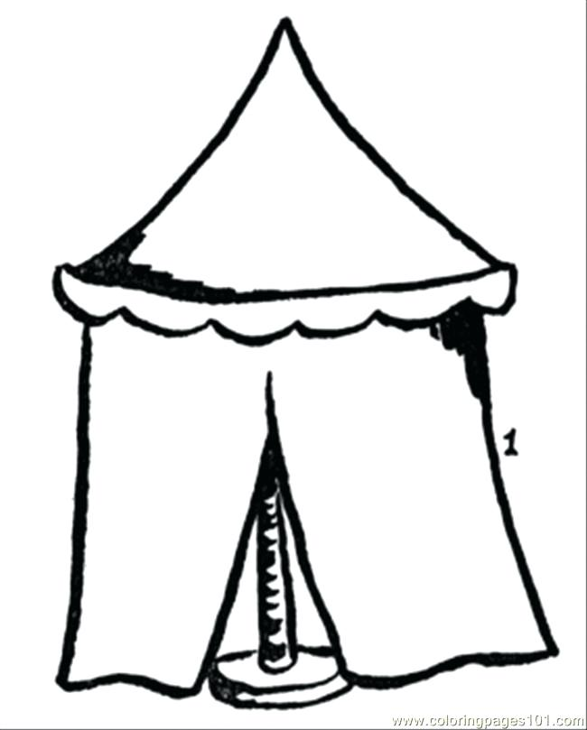 650x809 Tent Coloring Page Tents Colouring Pages Page Circus Tent