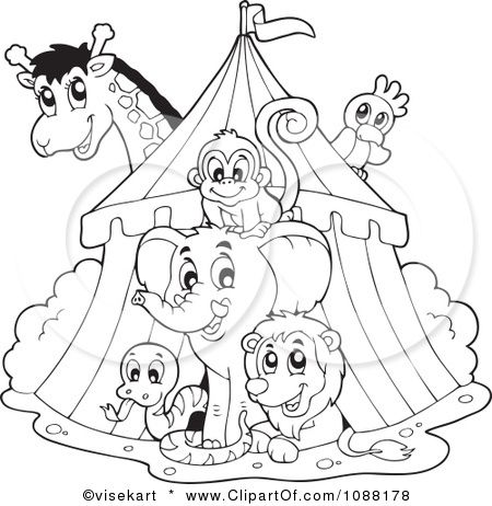450x462 Circus Tent Coloring Page School