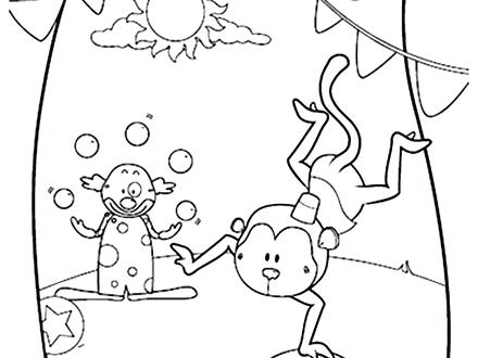 440x330 Circus Coloring Page Circus Coloring Pages Image Circus Monkey