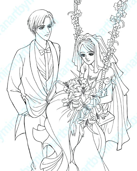 570x713 Digital Coloring Pages Wedding Digital Coloring Page Coloring Book