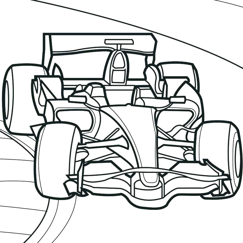 842x842 Race Car Coloring Page Car Coloring Book And Cop Car Coloring Race