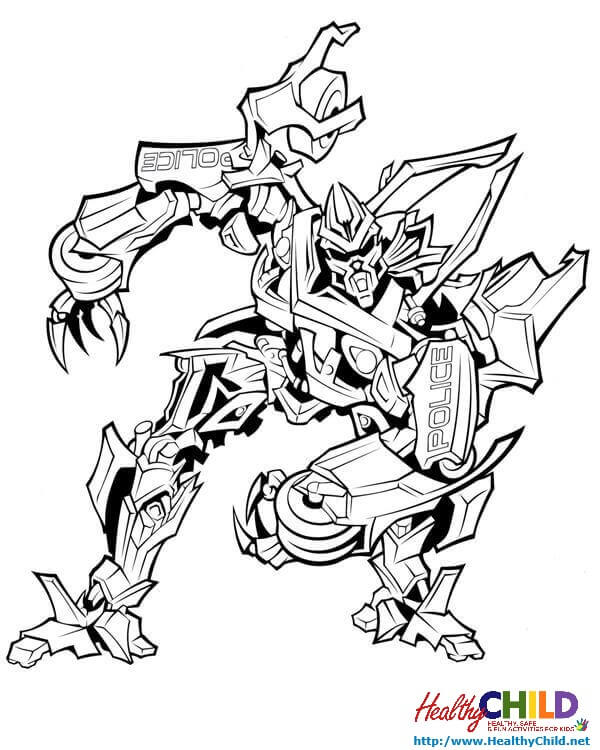600x750 Transformers Barricadebot Coloring Page
