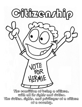 267x350 Citizenship Character Education Coloring Sheet
