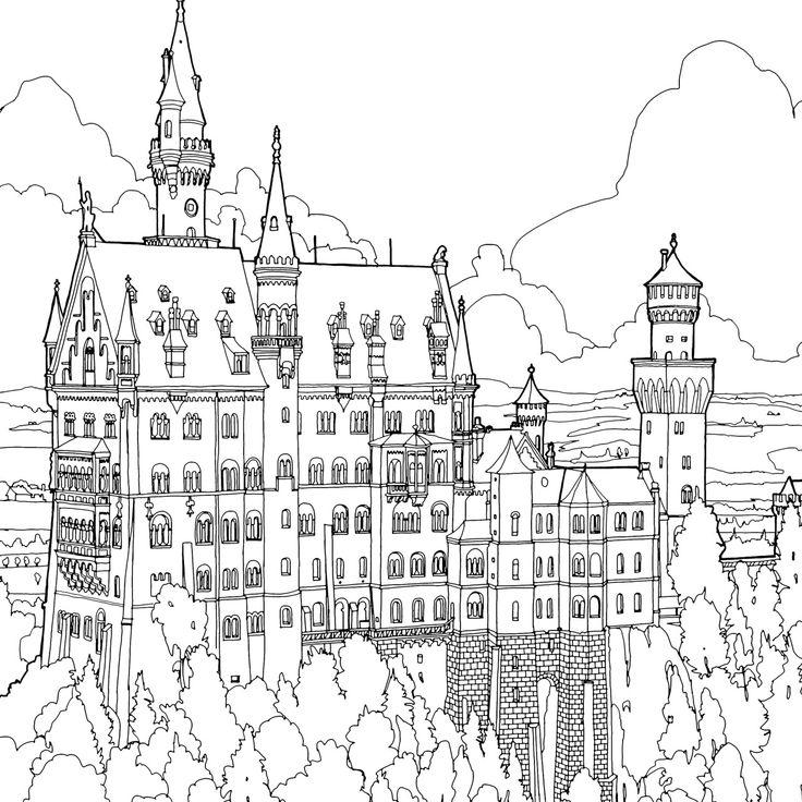 Medieval City Drawing at GetDrawings | Free download