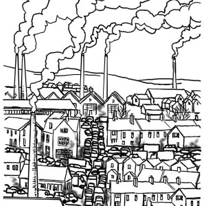300x300 City Buildings Coloring Pages Adult Coloring Pages